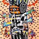 Marcos Palacios CIEMPIES acrilico sobre lienzo 150 x 150 cm 3400 150x150 - Marcos Palacios