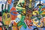 Marcos Palacios MASKS acrilico sobre lienzo 120 x 180 cm 3400 150x101 - Marcos Palacios