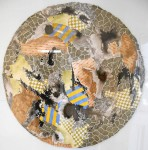 Círculo Siena - Acuarela y tinta, 70 cm. de diámetro