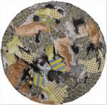 Circulo Siena - acuarela y tinta sobre papel de algodón, 70 cm. diametro