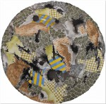 NADER BARHUMI Circulo Siena Acuarela y tinta s papel 70 cm diametro 150x148 - Nader Barhumi
