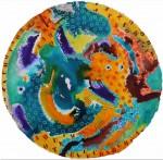 NADER BARHUMI Circulo Tinta Acuarela y tinta s papel 70 cm diametro 150x147 - Nader Barhumi