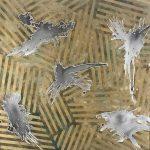"""Nader Barhumi Angeles caidos en dorado tecnica mixta sobre lienzo 100 cmX 100 cm 8000 1 150x150 - """"Pinturas recientes"""" de Nader Barhumi"""