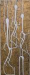 Rectángulo de Nazca II - acrílico sobre dibond, 62.5 x 24.5 cm.