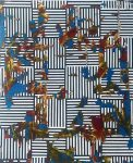 "Nader Barhumi Retazos tecnica mixta sobre lienzo 180cmx220cm 20000 122x150 - ""Pinturas recientes"" de Nader Barhumi"