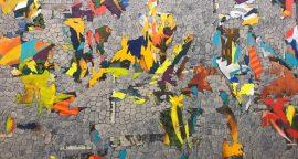 """Nader Barhumi Stone Wall tecnica mixta sobre lienzo280 cm X 220 cm 28000 270x144 - """"Pinturas recientes"""" de Nader Barhumi"""