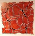 Cuadrados Nazca - mixta sobre dibond , 73 x 71 cm.