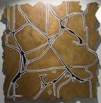 Cuadrados Nazca - mixta sobre dibond, 73 x 71 cm.