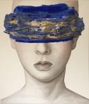 Paolo Vigo - De la serie Antifaz, mixta sobre lienzo, 170 x 145 cm.
