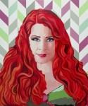 "Patricia Alor Pretell No me quites mi caramelo acrílico sobre lienzo 120 x 100 cm 2018 Monique Pardo 125x150 -  ""Retrato Pop"" Exposición colectiva"