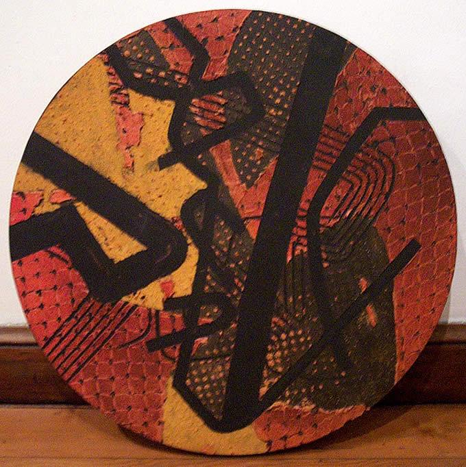 Circular - técnica mixta sobre lienzo, 66 cm. de diámetro
