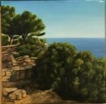 Cap Canaille - óleo sobre lienzo, 20 x 20 cm