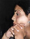 Retrato Adriana - óleo sobre lino (técnica flamenca), 19 x 24 cm