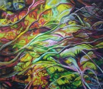 "Valeria Valdizan Arcoiris oleo sobre tela 150x130cm 3026inc igv 150x130 - ""Efectos de una simbiosis"" de Valeria Valdizán"