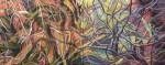 """Valeria Valdizan Diptico oleo sobre tela 80x200cm 3500inc igv 150x59 - """"Efectos de una simbiosis"""" de Valeria Valdizán"""