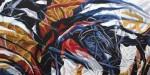 "Valeria Valdizan mariposa oleo sobre tela 100x200cm 3186inc igv 150x75 - ""Efectos de una simbiosis"" de Valeria Valdizán"