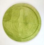 S/T II - óleo sobre tela, diámetro 120 cm.
