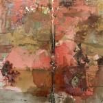 Coralatmos - técnica mixta sobre lienzo, 80 x 80 cm.