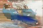 M.E. - mixta sobre lienzo, 120 x 80 cm.