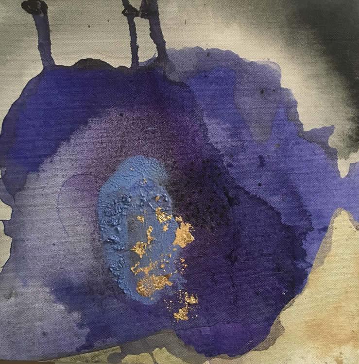 Atmos 1 - técnica mixta sobre tela, 25 x 25 cm.