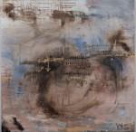 Yiriane Kahn, Inn, 120x120cm, mixta sobre lienzo