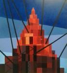 Babel - óleo sobre mdf, 81 x 76 cm.