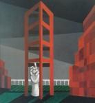 Vacaciones en grecia - óleo mdf, Manhattan - óleo sobre mdf, 81 x 76 cm.