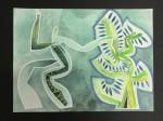 Vínculo - tierras de color, acuarela y tinta sobre papel de algodón, 60 x 50 cm.