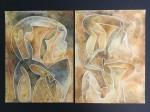 Delicues(entes) - tierras de color, acuarela y tinta sobre papel de algodón, 60 x 88 cm.