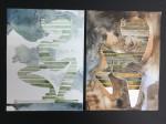 Estrato VI - tierras de color, acuarela y tinta sobre papel de algodón, 60 x 50 cm.