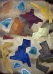 Mímesis - tierras de color, acuarela y tinta sobre papel de algodón, 60 x 50 cm.