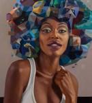 Retrato 4 - óleo sobre lienzo, 100 x 90 cm.