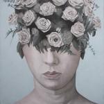 mmPaolo Vigo. Rosas de papel. mixta sobre lienzo.100x100cm. 1800 SIN IGV 150x150 - Paolo Vigo