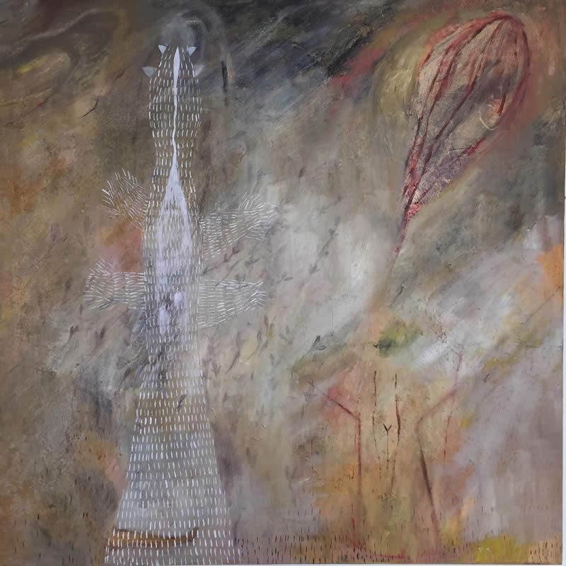 S/T 3 - óleo sobre lienzo, 80 x 80 cm.
